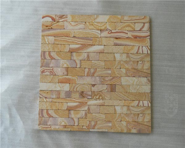 Rainbow sandstone culture stone wall cladding