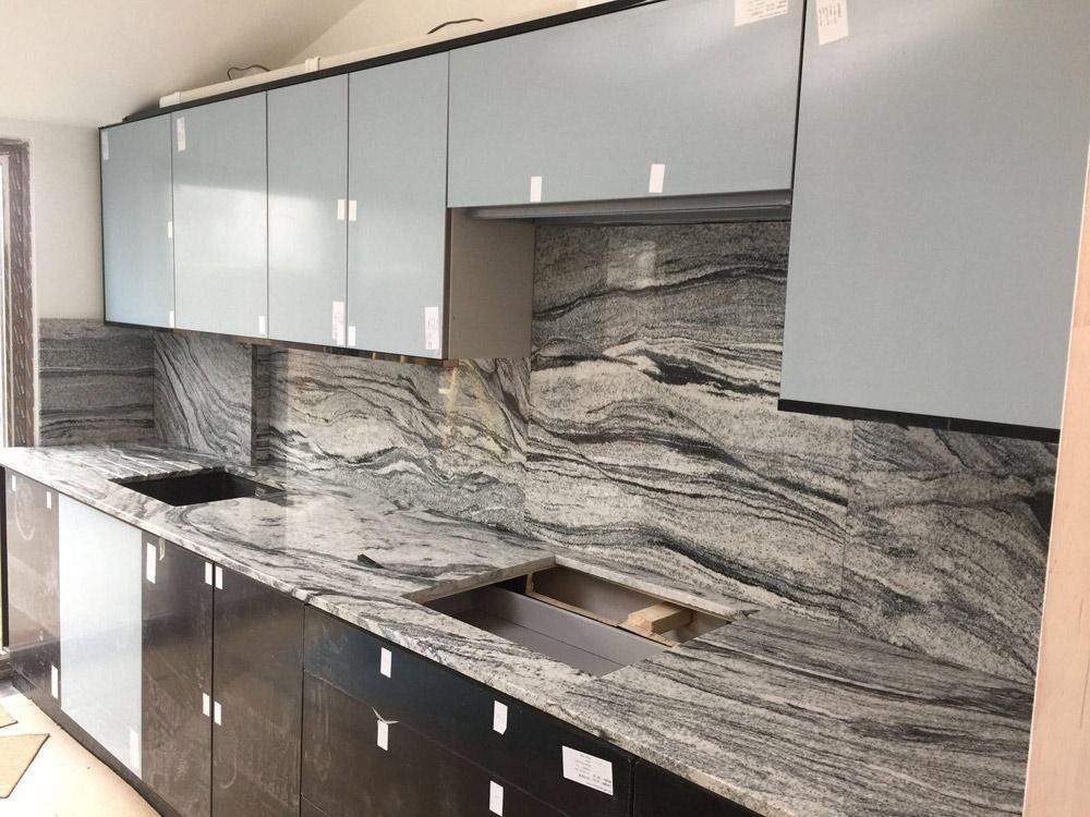 viscount white granite kitchen tops - White Granite Kitchen