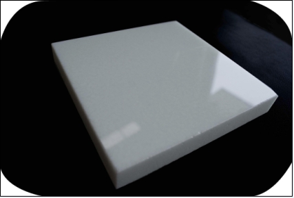 Pure White Artificial Marmoglass Panel