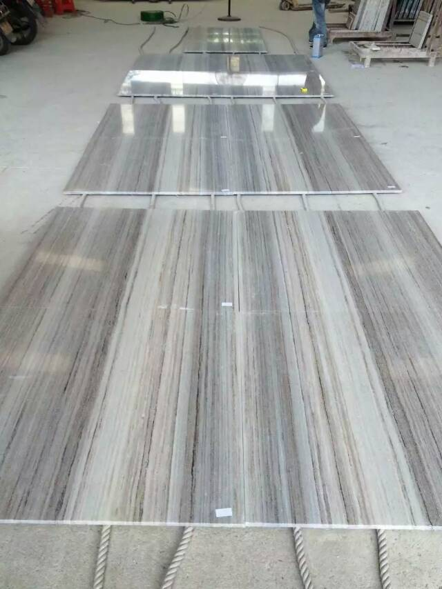 Crystal wood grain marble with good quality