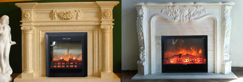 marble carving fireplace mantel