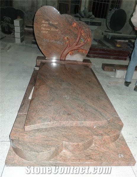 Good quality granite red headstone
