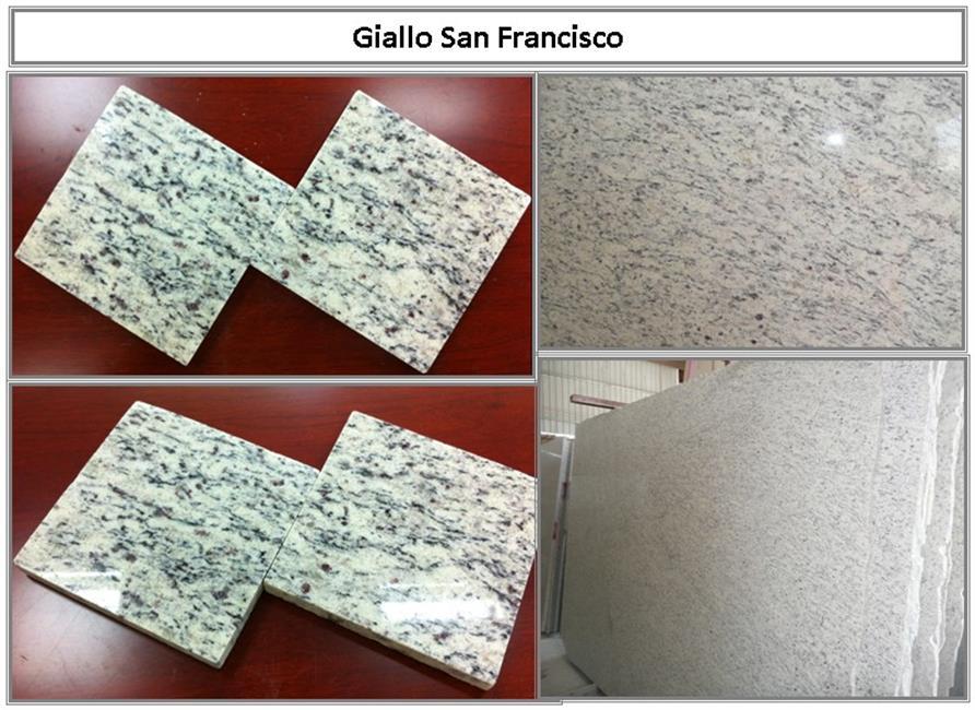 Giallo San Francisco Granite Polished Slabs Tiles
