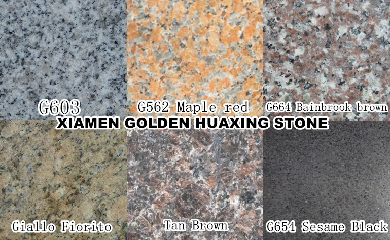 chinese Granite tile G603 Tanbrown G654 G562