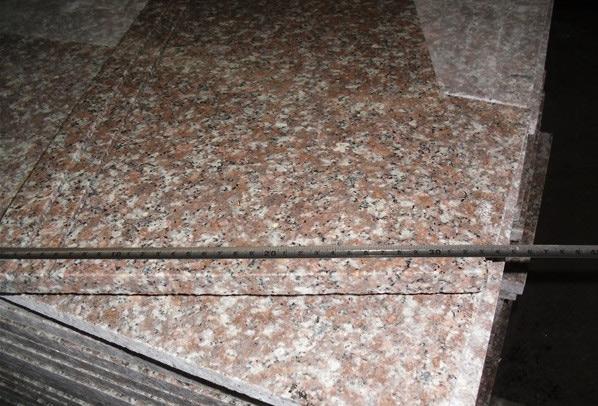 G687 granite peach red granite tiles stairs risers