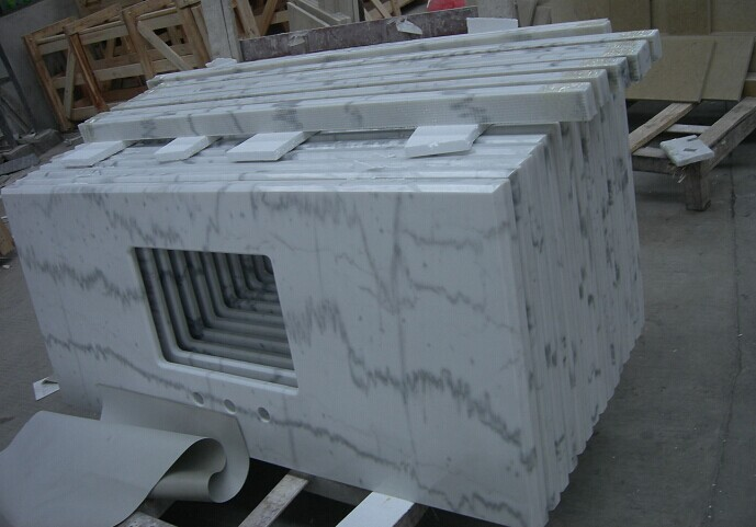 Guangxi white countertop polished finished Chines