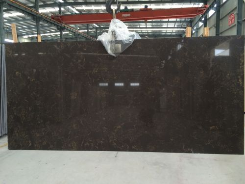 Engineered stone quartz slab