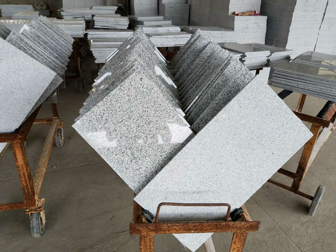 10mm G603 Bianco Padang Crystal Luna Kuru Grey Granite Floor Covering