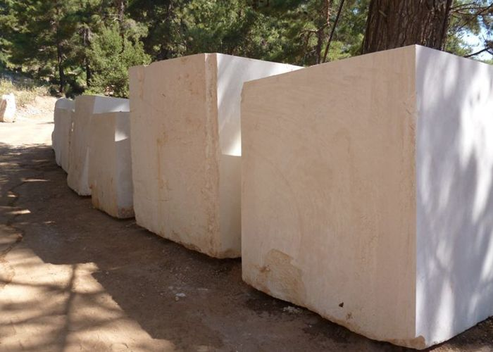 white limestone stone blocks natural