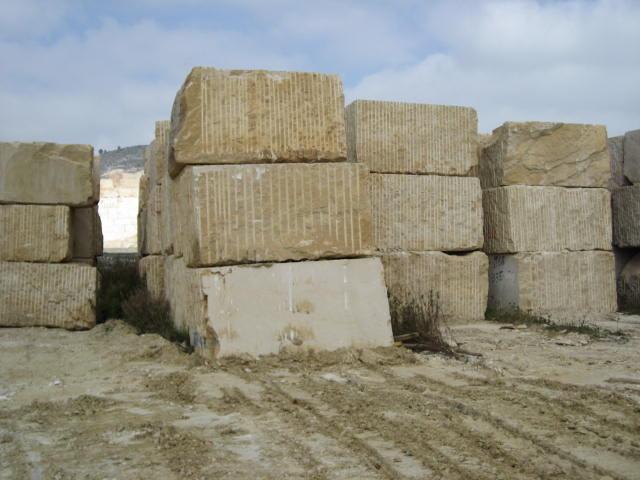 Beige Limestone Blocks