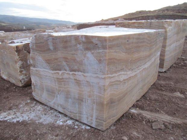 Brown Onyx Block Stone