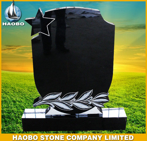 Absolute Black Granite Headstones Norwegian Style HBMNO006