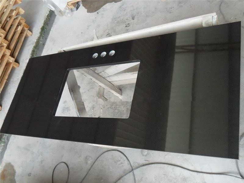 Absolute Black Granite Kitchen Countertops