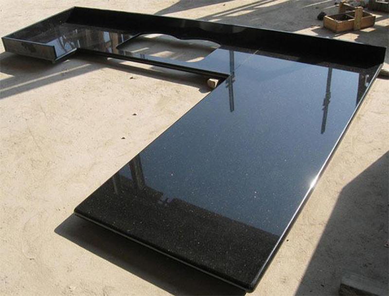 Absolute Black Granite Polished Granite Kitchen Countertops