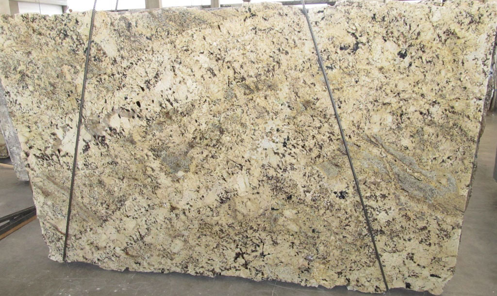 Absolute Cream Slabs Polished Yellow Granite Slabs