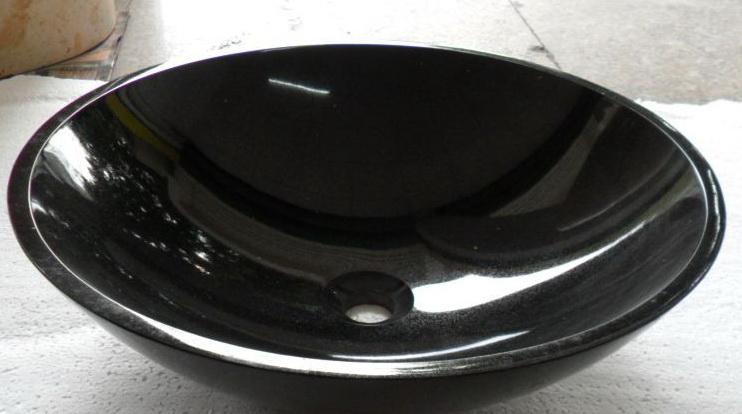 Absolute Pure Black Granite Basin Sinks
