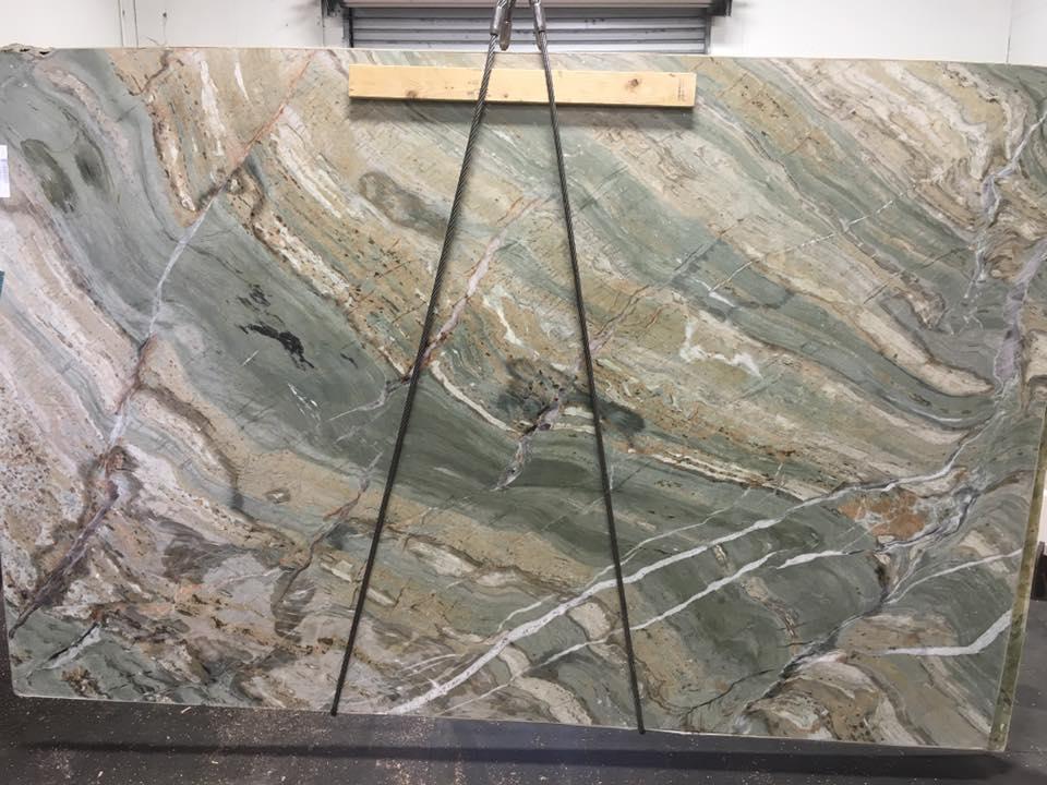 Abstrato Quartzite Slab Brazilian Green Quartzite Slabs