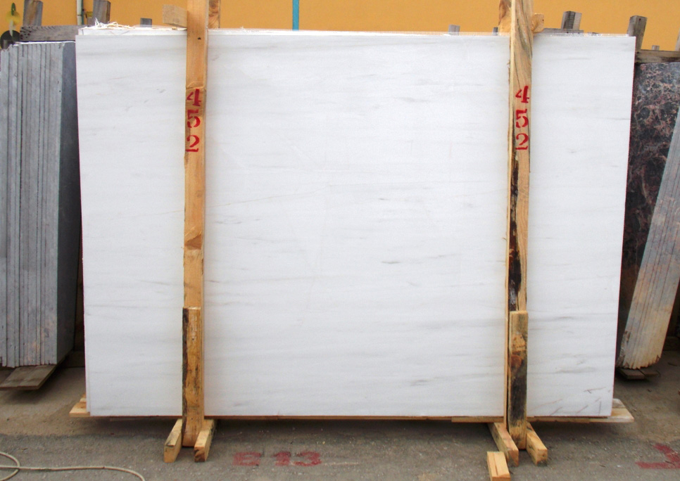 Affordable Bianco Doloite Stone Slabs Polished White Marble Slabs