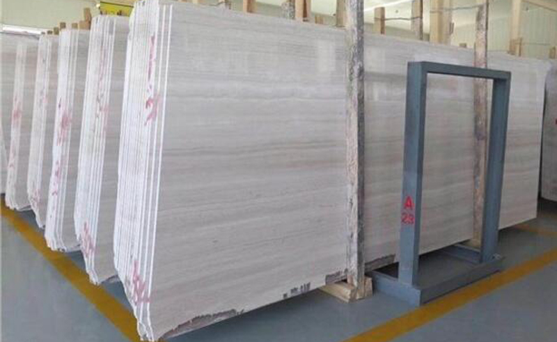 Affordable Chinese White Wooden Marble Slabs