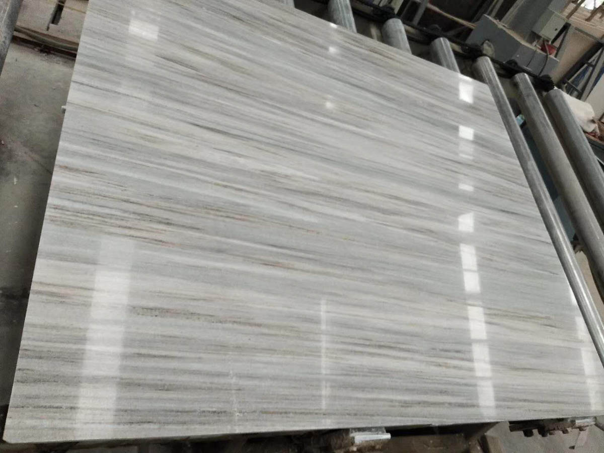 Affordable Crystal Wood Grain White Marble Slabs Tiles