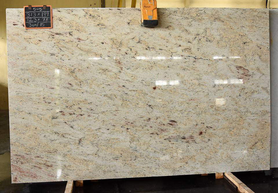 Affordable Ivory Cream Polished Granite Slabs