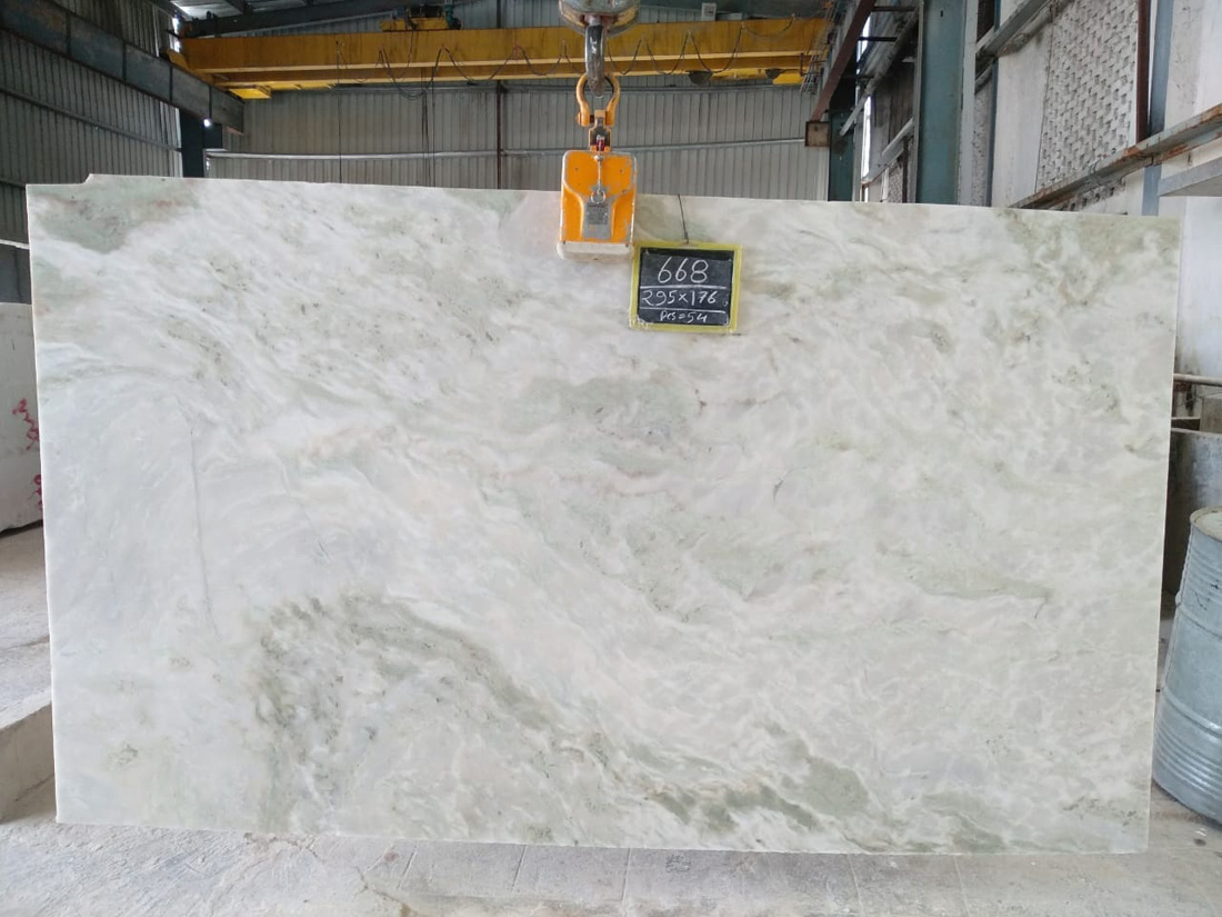 Affordable Mystic White Marble Polished 2CM Slabs