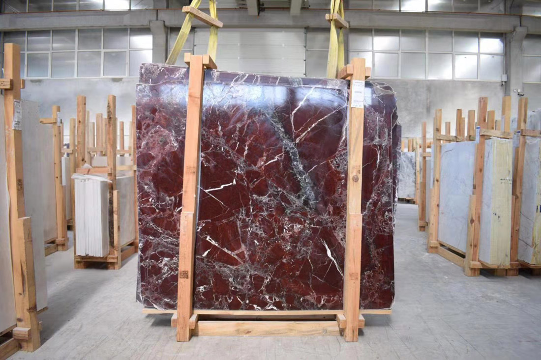 Affordable Rosso Levanto Slabs Red Marble Stone Slabs