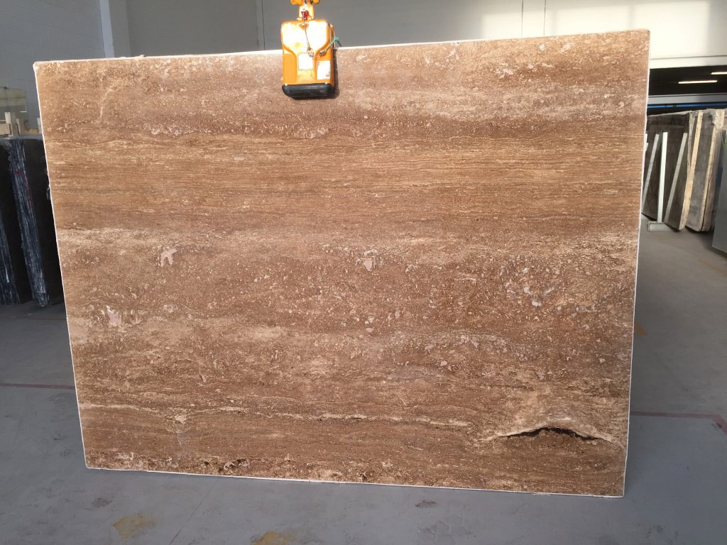 Affordable Walnut Brown Travertine Slabs for Export