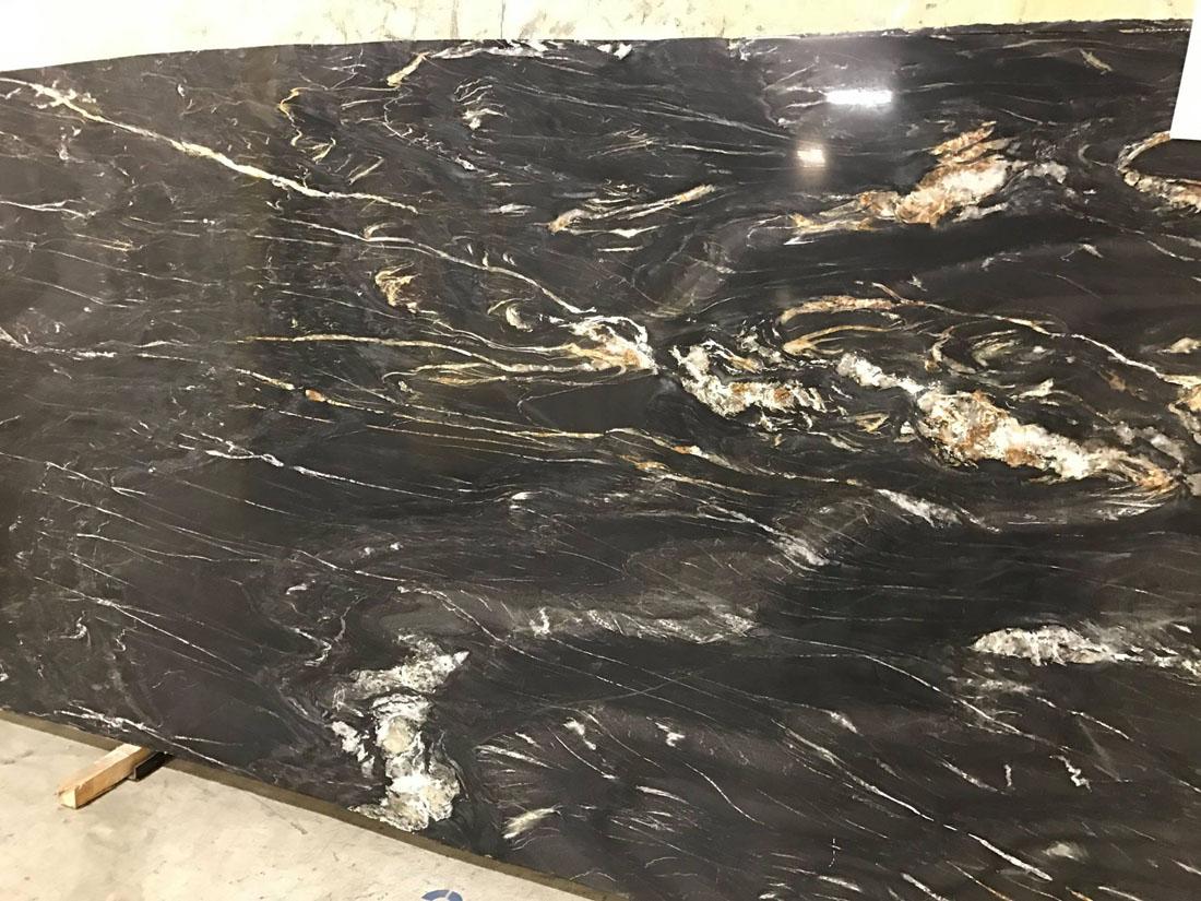 African Fusion Quartzite Slab Polished Black Quartzite Slabs