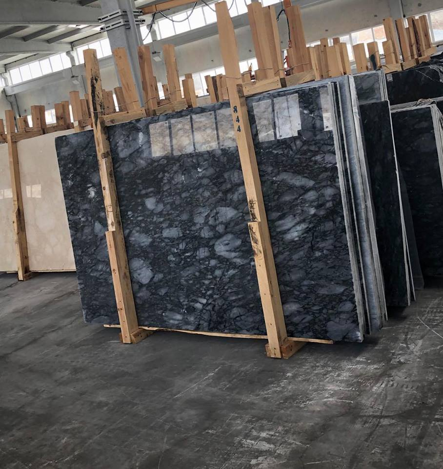 Afyon Leopard Slab Polished Black Marble Slabs