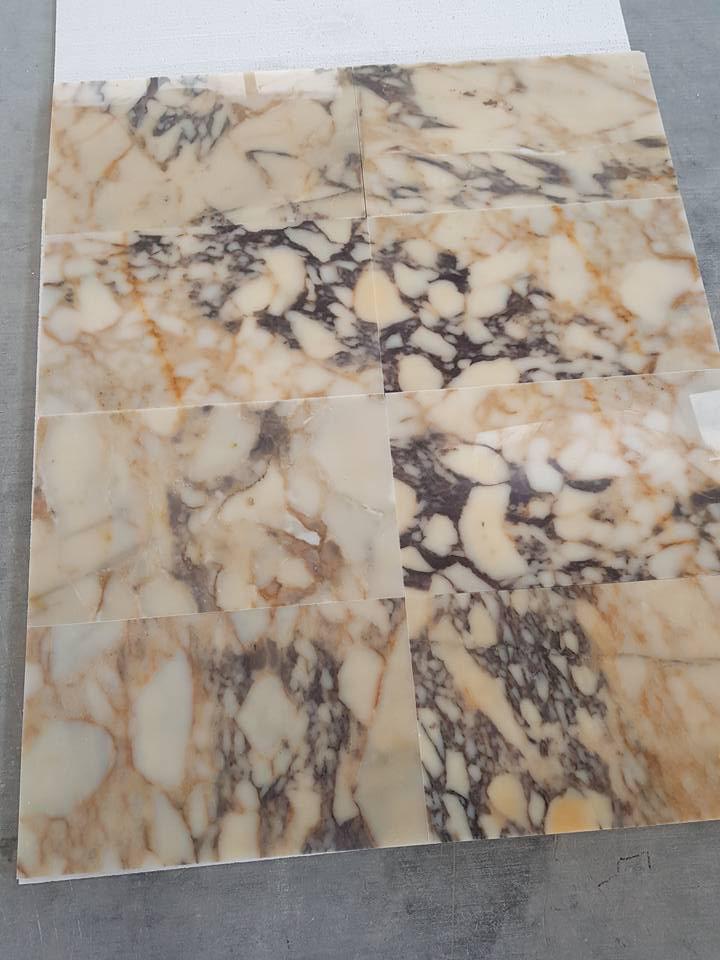 Afyon Sugar Violet Marble Tiles for Flooring