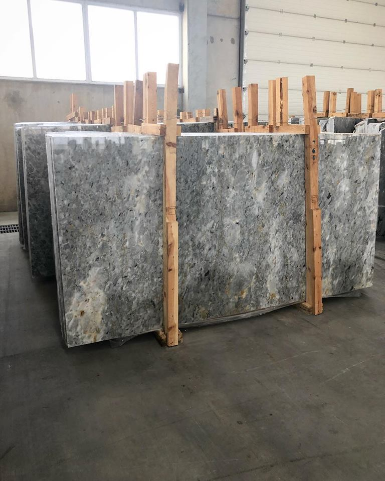 Afyon Tiger Skin Slab Polished Grey Marble Slabs