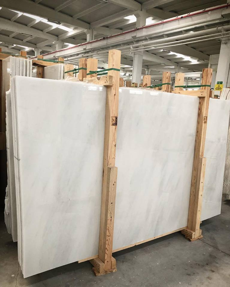 Afyon White Slab Polished White Marble Slabs from Turkey