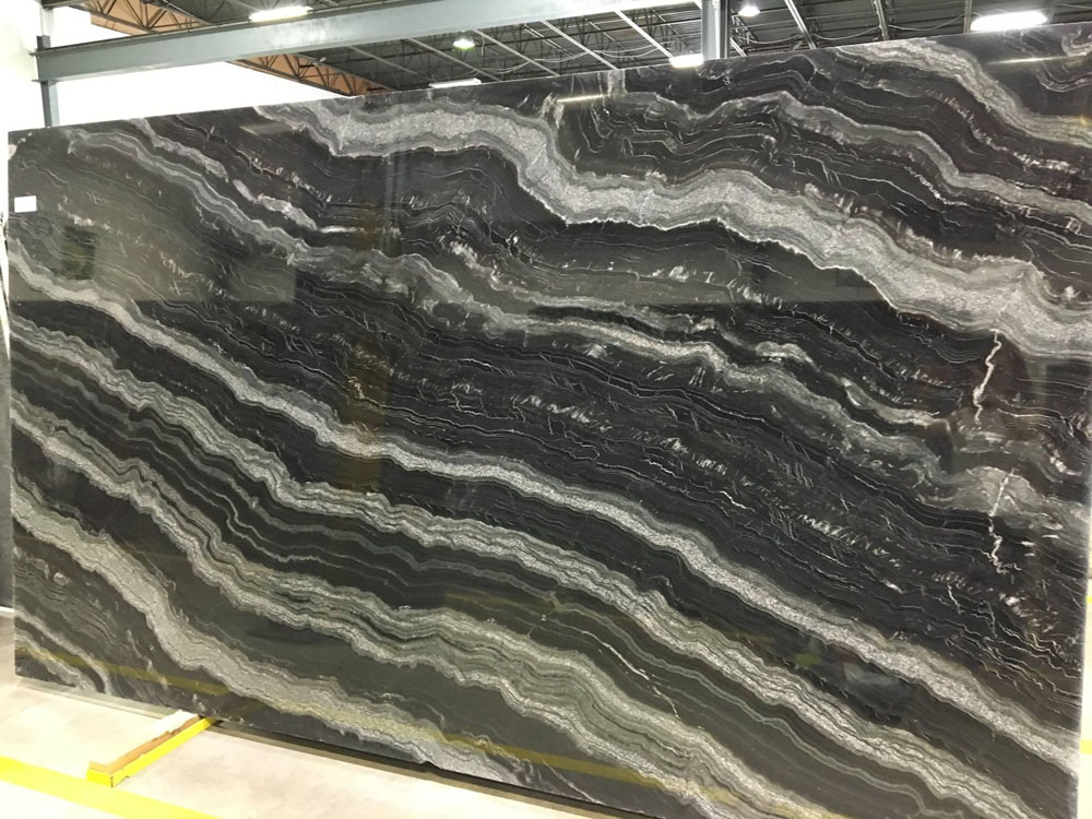 Agata Granite Slab Black Polished Granite Slabs