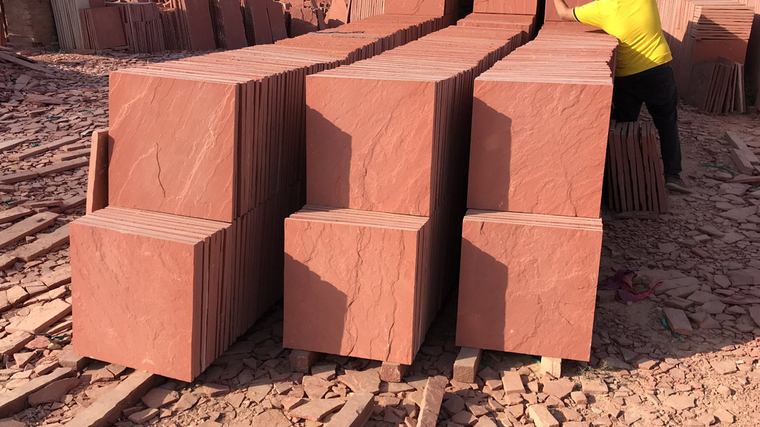 Agra Red Sandstone Tiles Flooring Stone Tiles