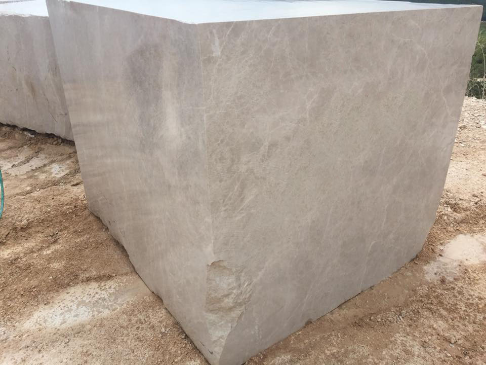 Akhisar Beige Marble Blocks from Turkey