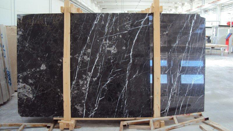 Alanya Black Marble Slabs Polished Black Stone Stone Slabs