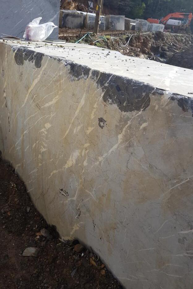 Alanya Siyah Marble Block Natural Grey Marble Blocks from Turkey