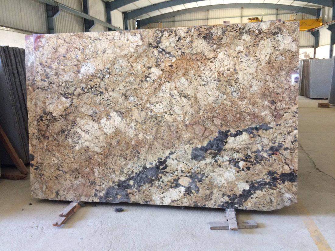 Alaska Gold Granite Brown Polished Slabs
