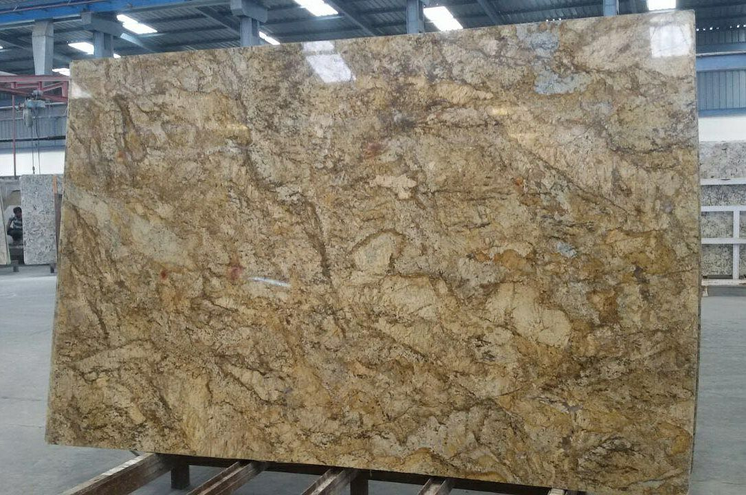 Alaska Gold Granite Slabs Polished Yellow Granite Slabs