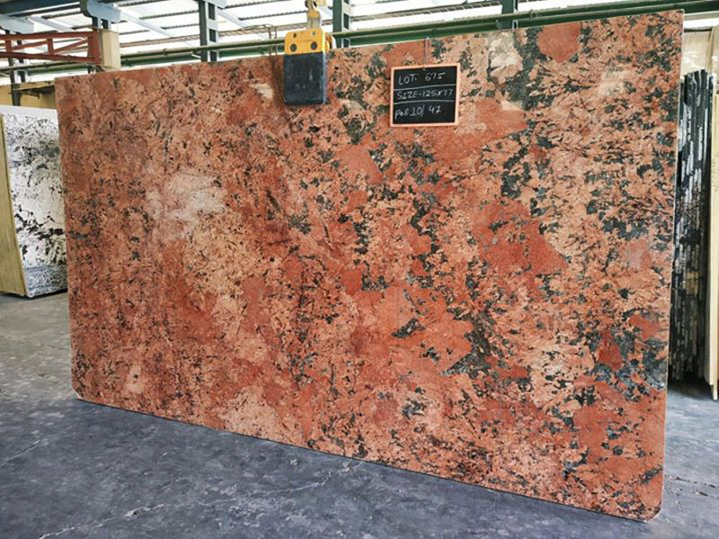 Alaska Red Granite Indian Red Granite Slabs