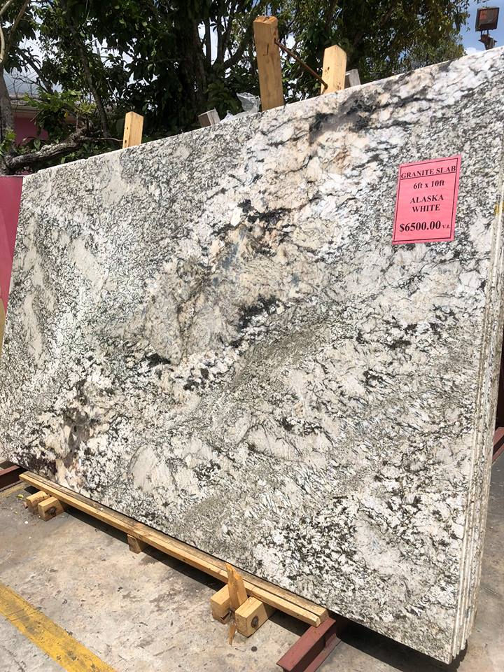 Alaska White Granite Slabs Indian White Polished Slabs