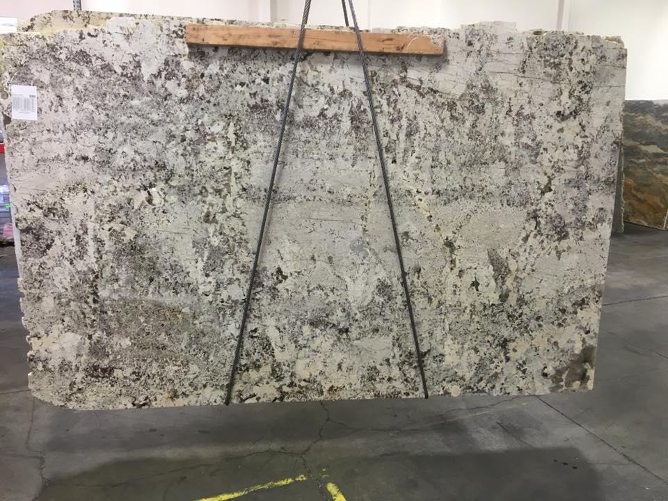Alaska White Leather Granite Slab