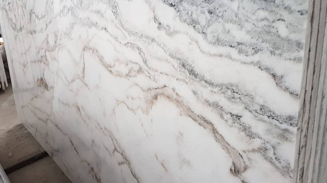 Alessandro White Marble Crosscut Polished Slabs from Greece