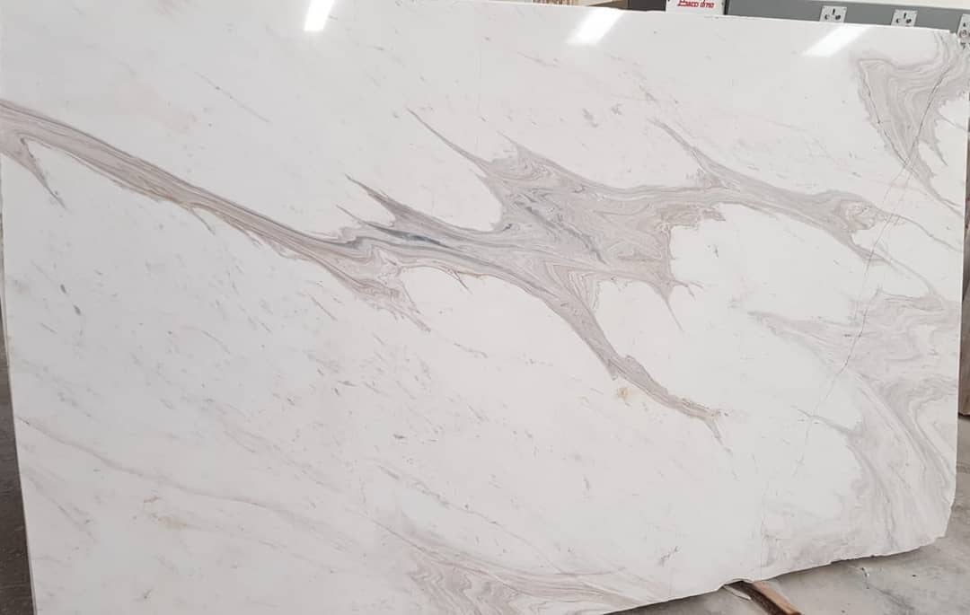 Alessandro White Marble Veincut Polished Slabs
