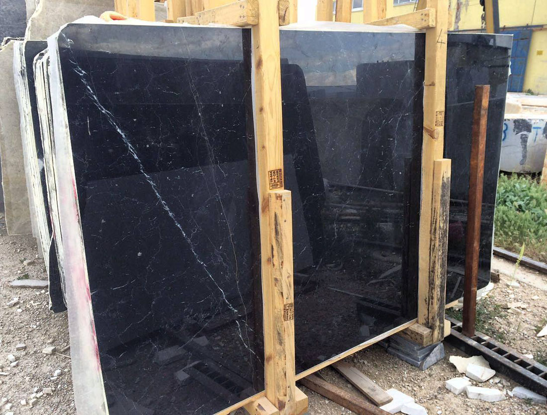 Alexandra Black Marble Slabs Turkish Polished Black Marble Slabs
