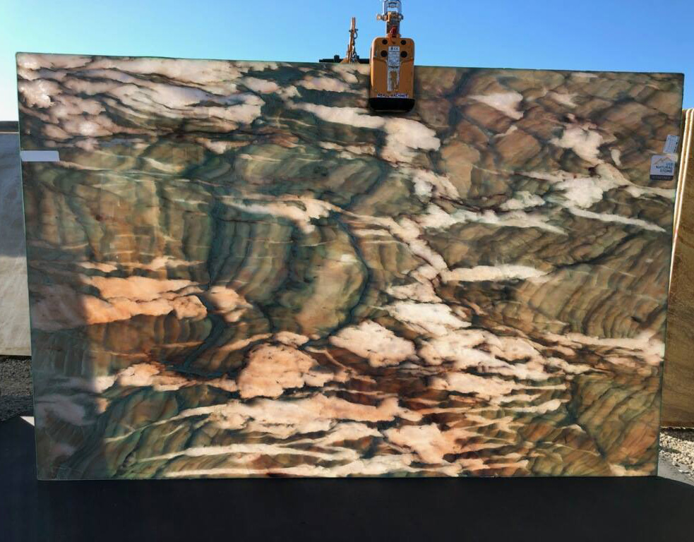 Alexandria Backlight Quartzite Slabs