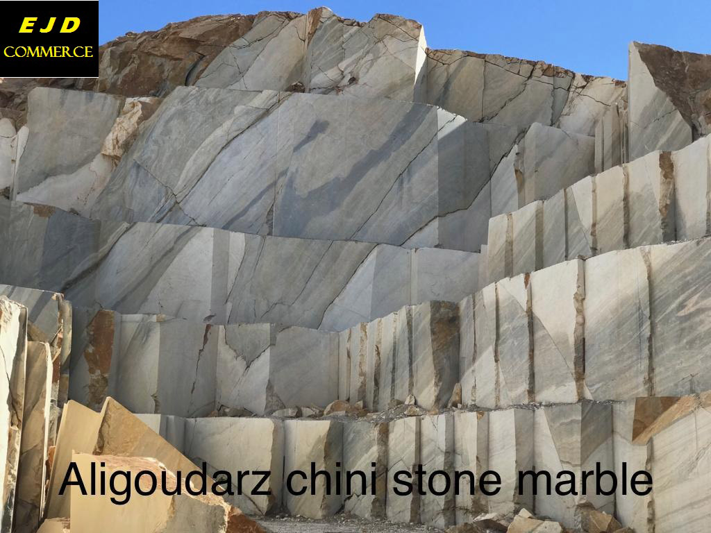 Aligoudarz Chini White Marble Blocks from Iran Quarry