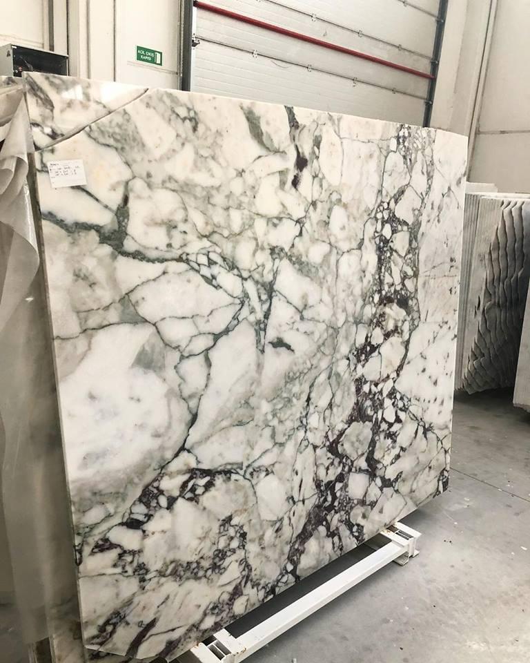 Allegro Calacata Green and White Marble Slab
