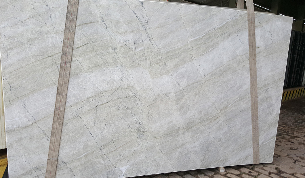 Allure Quartzite Polished White Quartzite Slabs